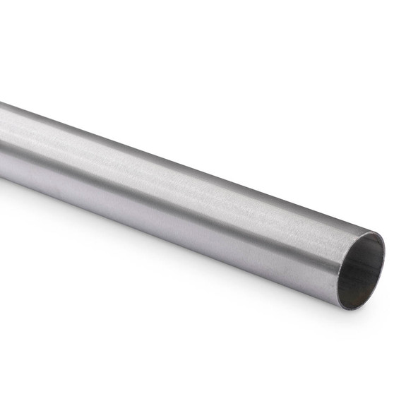 "Hand / Bar Rail Tubing - Brushed Stainless Steel - 1.5"" OD"