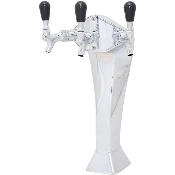Chrome Gothic Draft Towers - Glycol Cooled - 2 to 4 Taps