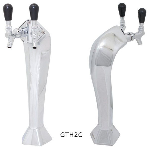 Chrome Gothic Draft Towers - Glycol Cooled - 2 Taps