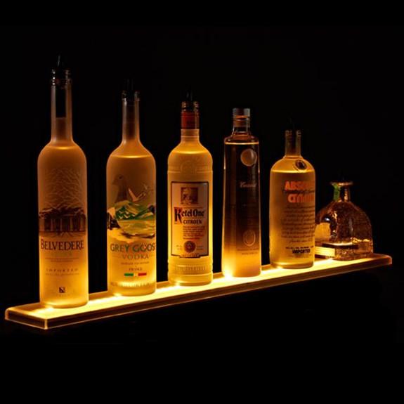 LED Lighted Liquor Bottle Display Rail On