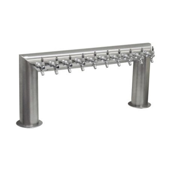 Pass Thru Draft Beer Tower - Glycol Cooled - 8 to 12 Faucets
