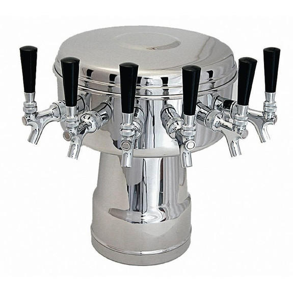 Mushroom Draft Beer Tower- Glycol Cooled- 4 to 6 Faucets