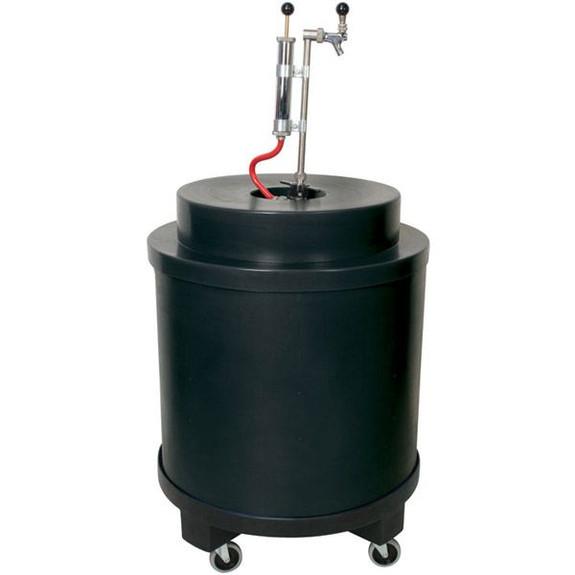 Super Cooler For Kegs of Beer Black