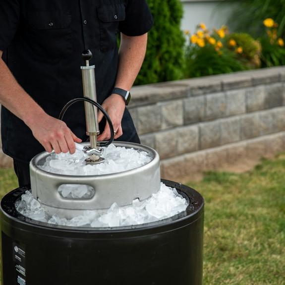 Super Cooler For Kegs of Beer