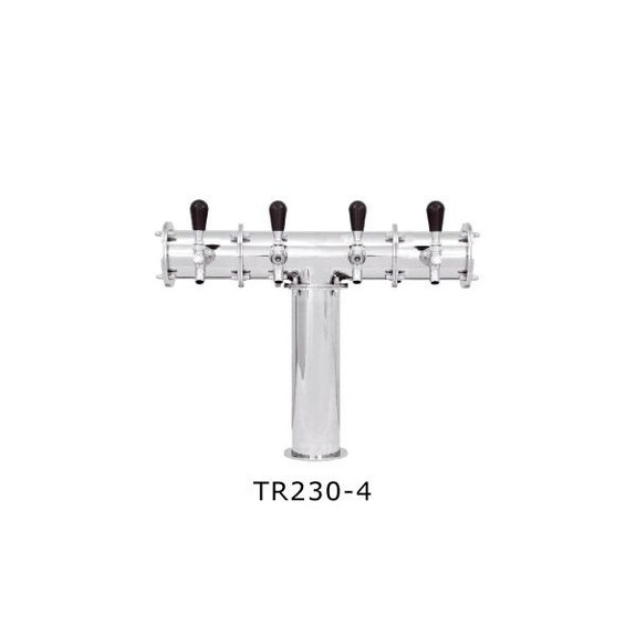 Stainless Steel Terra Draft Towers - Glycol Cooled 4 Taps