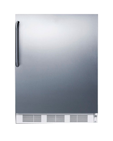 Summit Commercial Refrigerator - 5.5 cu. ft. - White with Stainless Steel Door