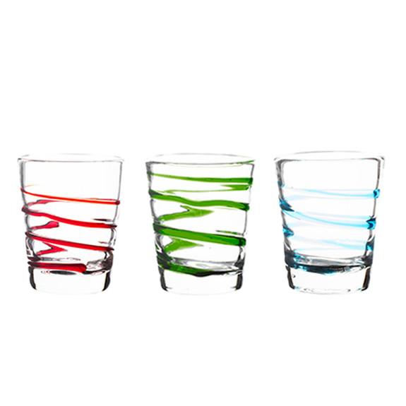 Twist Handblown Rocks Glasses - 10 oz - Set of 4