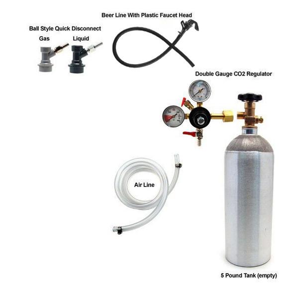 Homebrew Kegerator Kit - With 5lb CO2 Tank