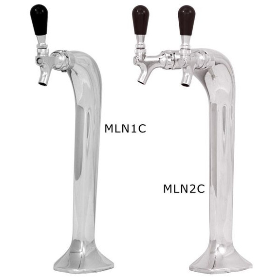 Milano Draft Tower - Chrome - Glycol Cooled - 1 and 2 Taps