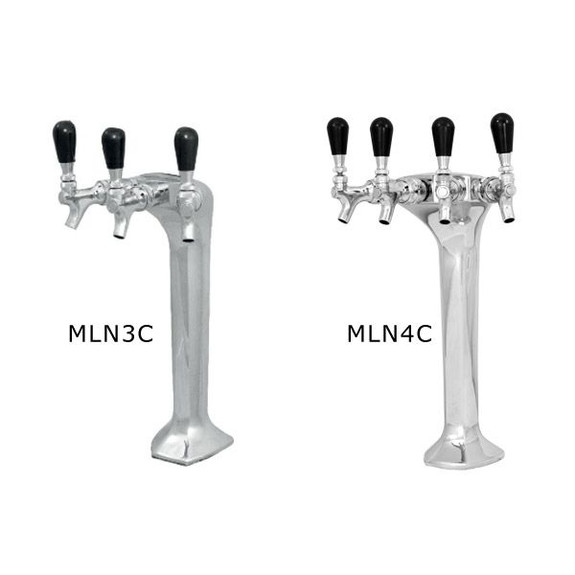 Milano Draft Tower - Chrome - Glycol Cooled - 3 and 4 Taps