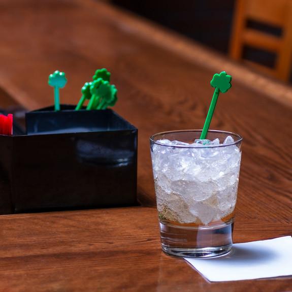 Green Shamrock Cocktail Stirrers