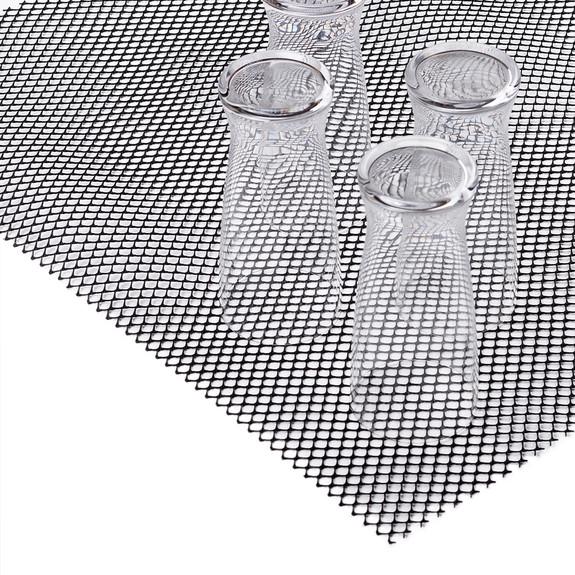 Sani-Dry Bar Glass Shelf Liner - Black