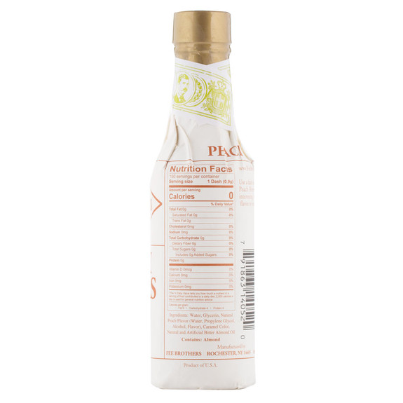 Fee Brothers Bar Cocktail Bitters - Peach Bitters - Nutritional Facts