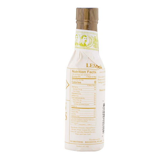 Fee Brothers Bar Cocktail Bitters - Lemon Bitters - Nutritional Facts