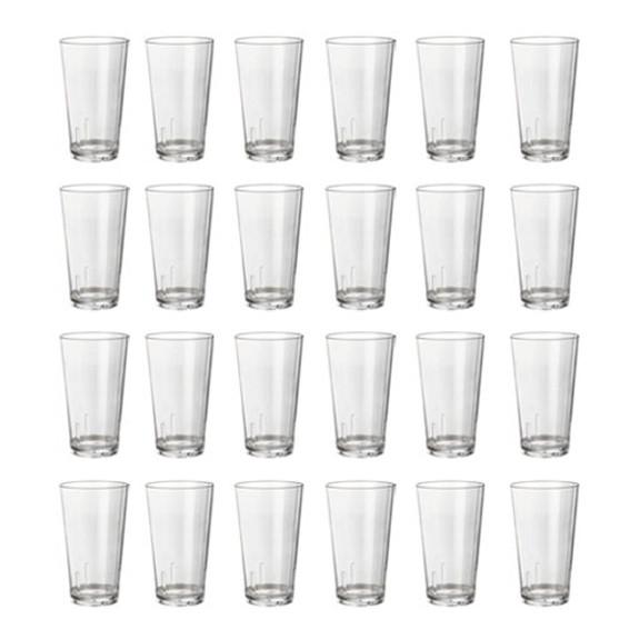 Acrylic Beer Pint Glasses - Case of 24 - Break Resistant - 16oz