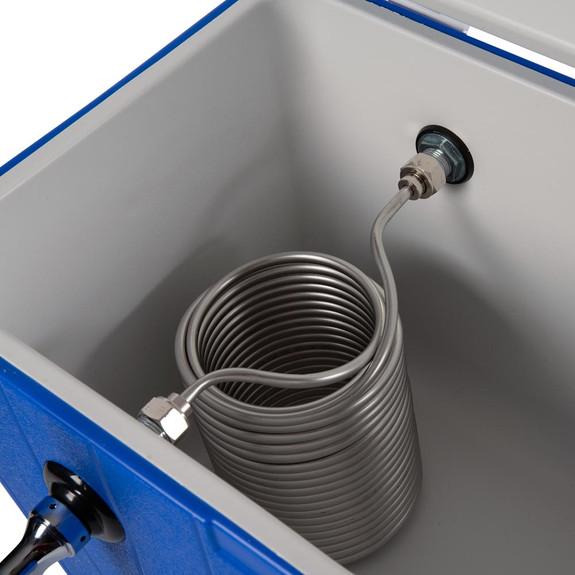 Single Faucet Jockey Box - 50' Coil - Faucet Hardware Kit