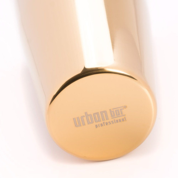 Urban Bar Tall Boston Shaker Tin - Gold Plated Japanese Stainless Steel - 31 oz