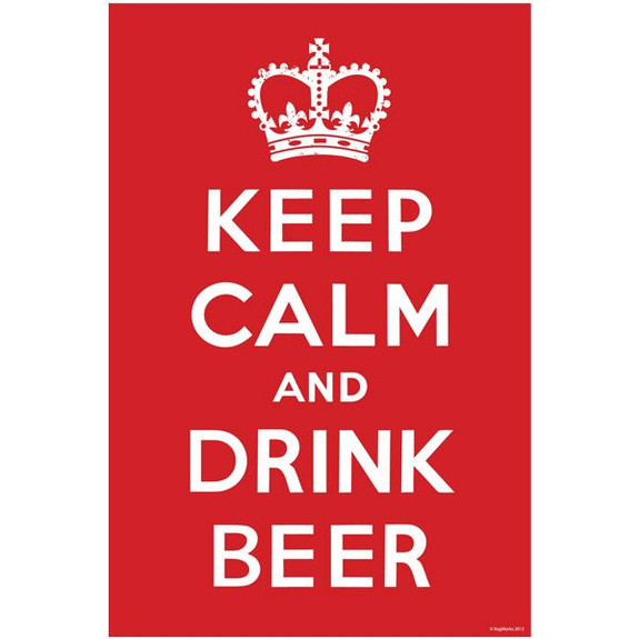 Keep Calm and Drink Beer Wall Poster