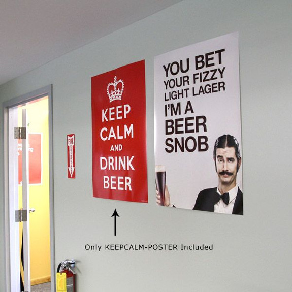 Keep Calm and Drink Beer Wall Poster on Wall
