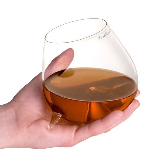 Final Touch Relax Footed Cognac Glass in Hand