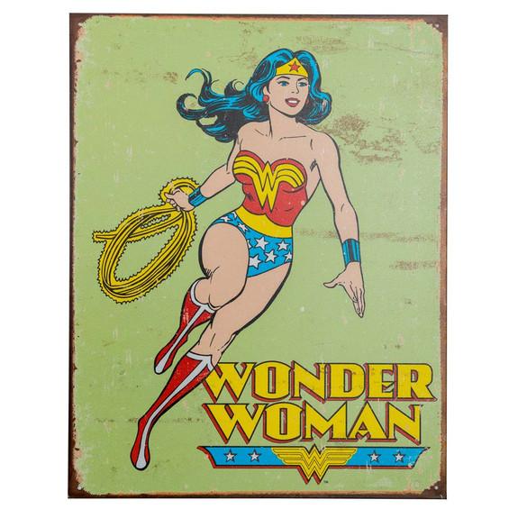 Wonder Woman Retro Metal Bar Sign
