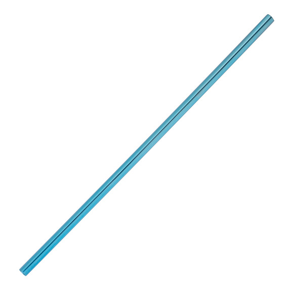 """Behind The Bar�� Metallic Blue Straight Stainless Steel Drinking Straw - 8.5""""L"""