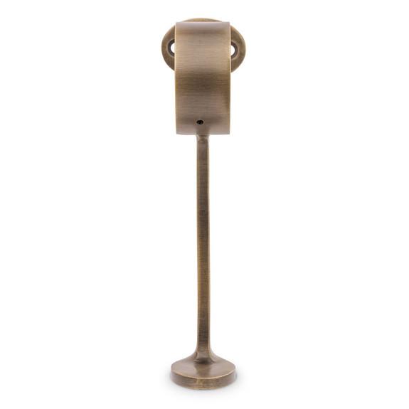 "Combination Foot Rail Bracket - Antique Brass - 2"" OD"
