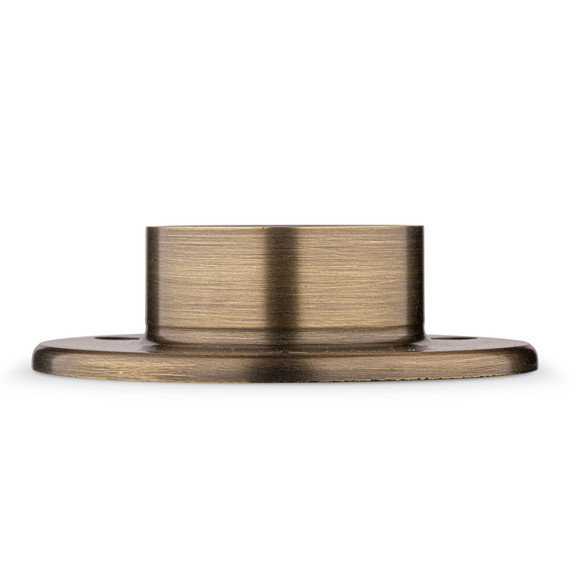 "4"" Wall Flange - Antique Brass - 2"" OD"