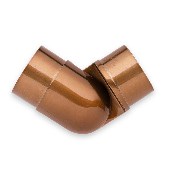 "Adjustable Flush Elbow - Sunset Copper - 2"" OD"