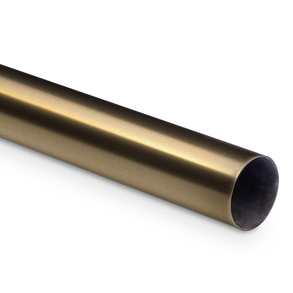 "Bar Foot Rail Tubing - Antique Brass - 2"" OD"