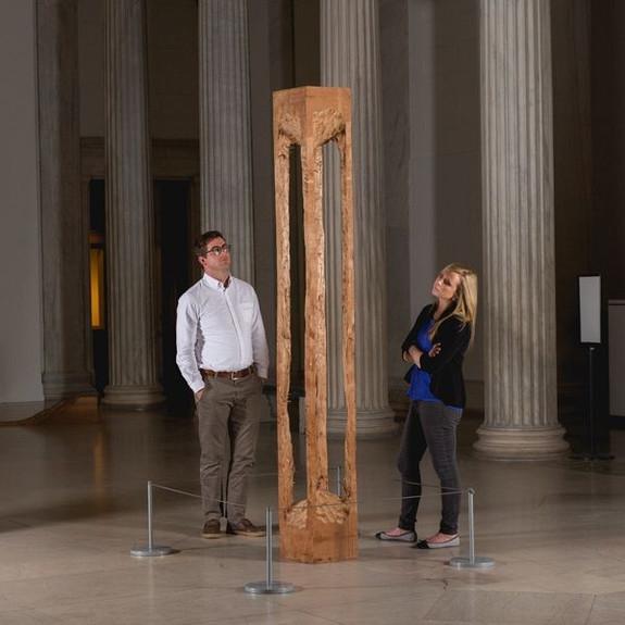 LineLogic Museum Post Stanchion - Freestanding Art Barrier