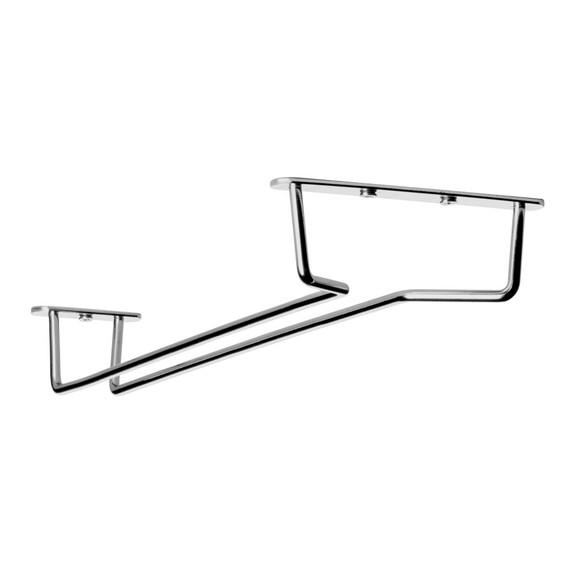 """Glass Hanger Rack - Chrome - 12""""L"""
