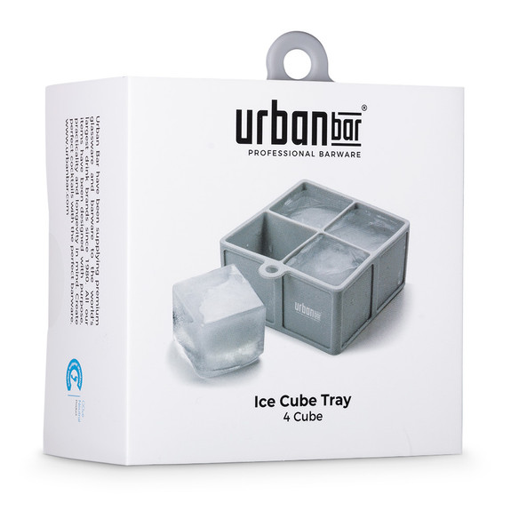 Urban Bar Silicone Ice Cube Tray - Holds 4 Cubes
