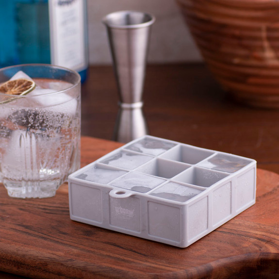 Urban Bar Silicone Ice Cube Tray - Holds 9 Cubes