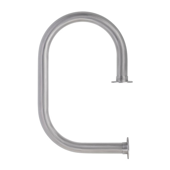 """KegWorks Classic Service Bar Rail - Brushed Stainless Steel - 2"""" OD"""