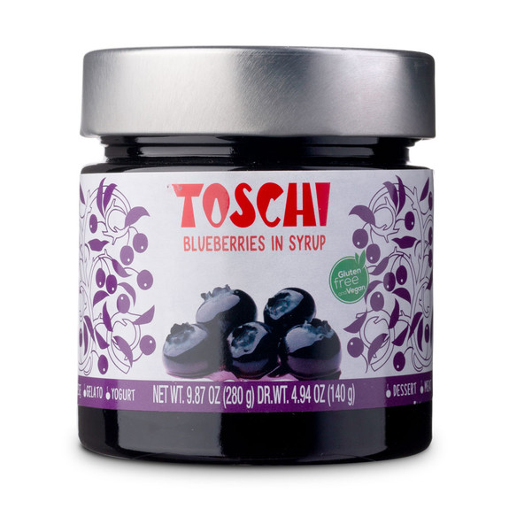 Toschi Italian Blueberries In Syrup - 9.87 oz Jar