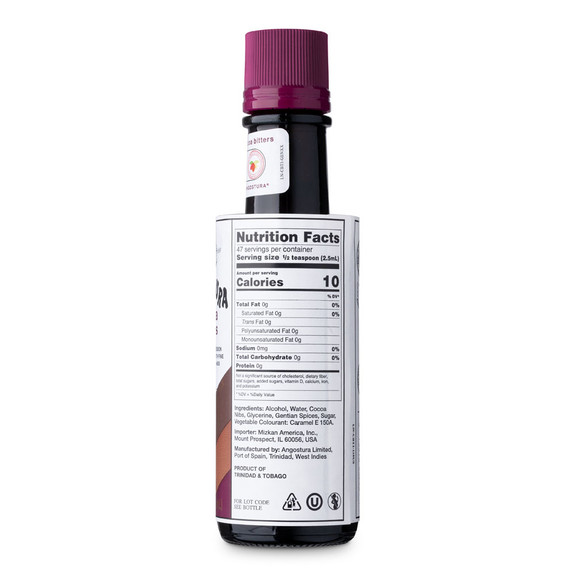 Angostura Cocoa Cocktail Bitters - 4 oz - Nutritional Facts