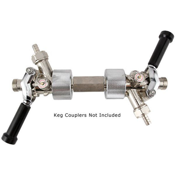 Beer Line Cleaning Double Flusher Kit with Couplers Attached