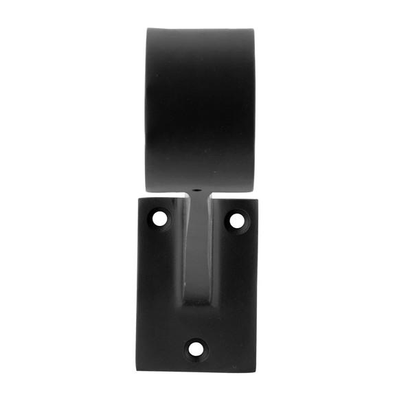 "Contemporary Bar Rail Bracket - Matte Black - 2"" OD"