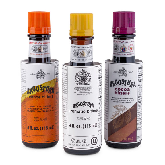 Angostura Cocktail Bitters Variety Pack - 4 oz - Aromatic, Orange & Cocoa
