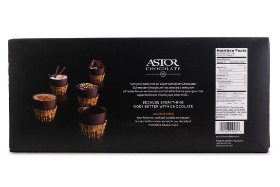 Astor Dark Chocolate Liqueur & Toasting Cups - Box of 12