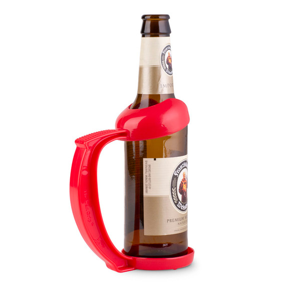 Instant Beer Stein Bottle Grip Handle - 12 oz - Red