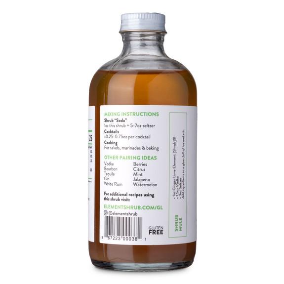 Element Ginger Lime Cocktail Shrub - 8 oz - Made with All-Natural Organic Apple Cider Vinegar