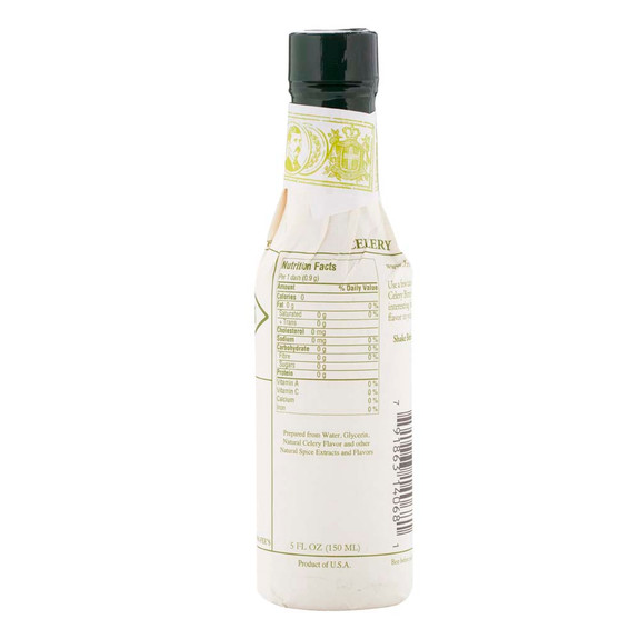 Fee Brothers Bar Cocktail Bitters - Celery Bitters - Nutritional Facts