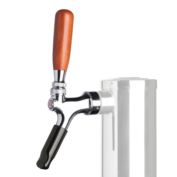 Stainless Steel Faucet with Walnut Tap Handle and Tap Soother Bundle