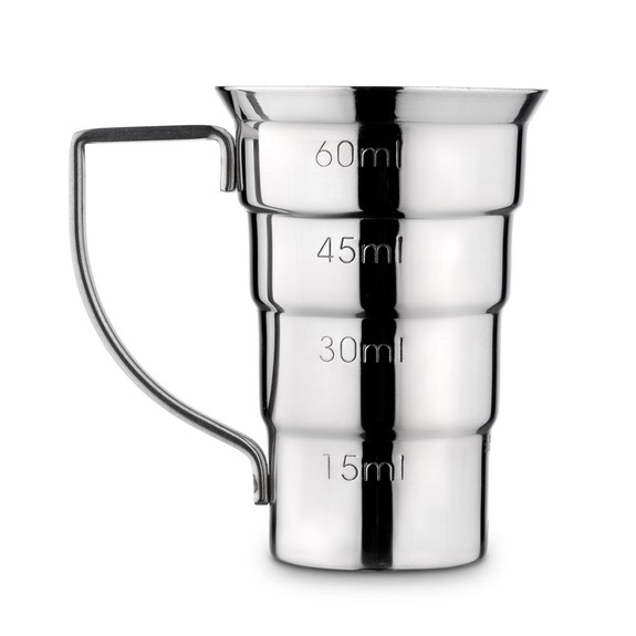 Barfly Stepped Jigger with Handle - 2 oz - Stainless Steel