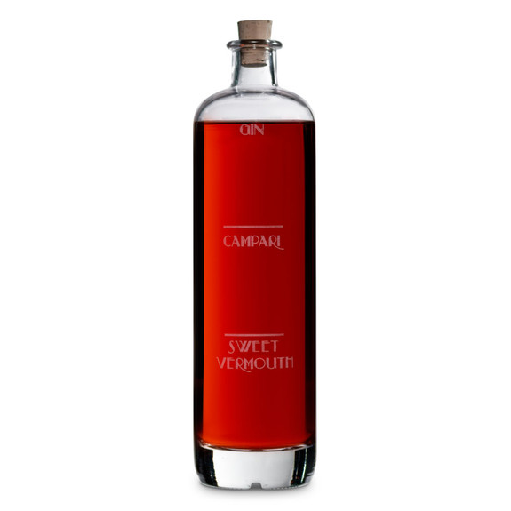 Negroni Art Deco Etched Cocktail Decanter - 750ml