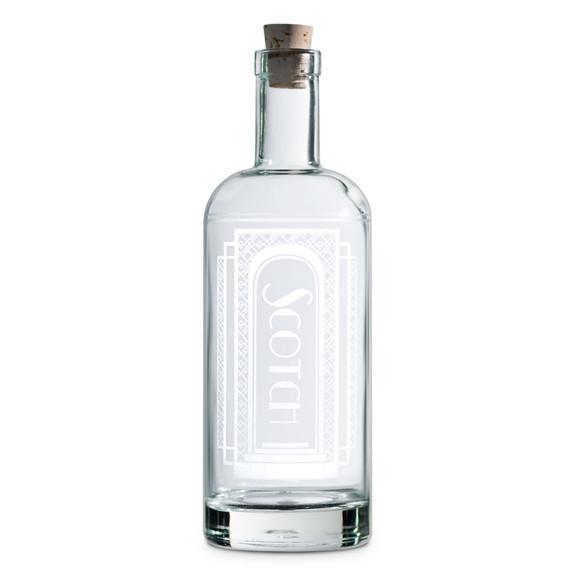 Scotch Art Deco Etched Spirit Decanter - 750ml