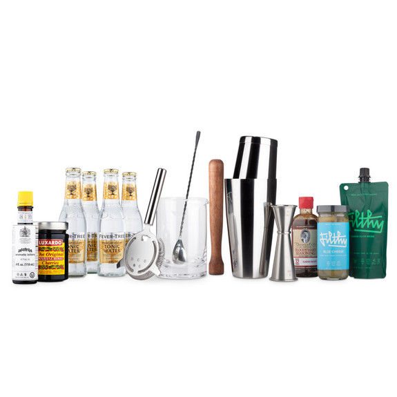 Ultimate Mixologist Cocktail Kit - Bar Tool Set with Cocktail Ingredients