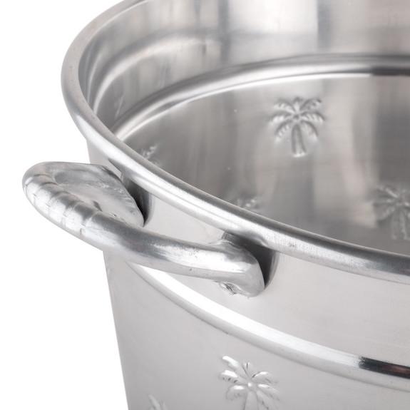 Oval Palm Tree Aluminum Beverage Tub